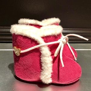 Other - Brand New- Pink suede-like fur crib boots